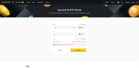 Cryptocurrency converter in Binance