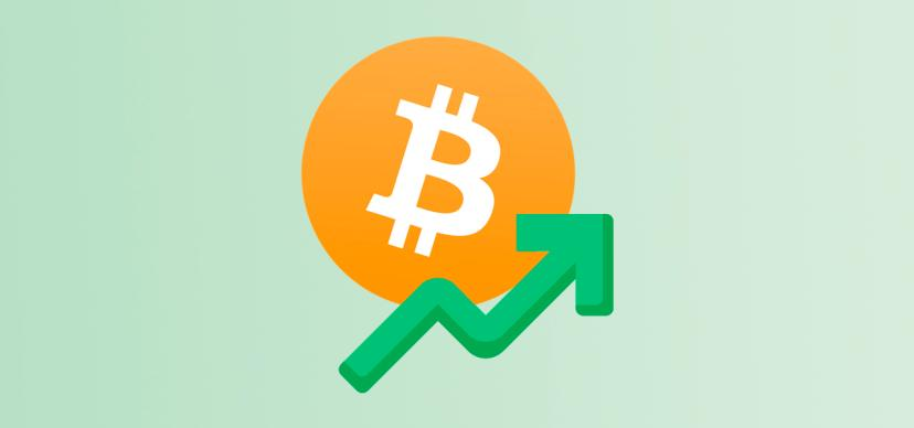 The rate of Bitcoin rose above $55000